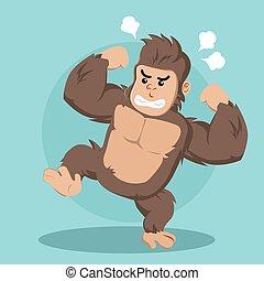 angry gorilla vector illustration design