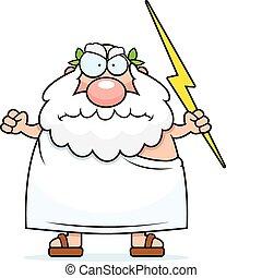 Angry Greek God - A cartoon Greek god with an angry...