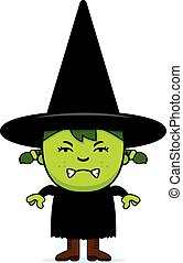 Angry Green Witch