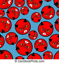 Angry hamster pattern seamless. Crazy rodent background . Devil Mad animal. Vector illustration