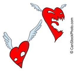 Angry Heart Cartoon