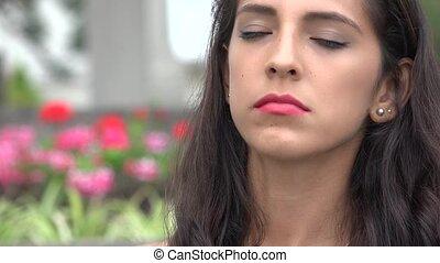 Angry Hispanic Woman