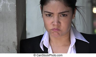 Angry Hispanic Woman