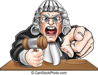 Angry Judge Cartoon