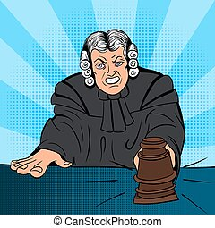 Angry judge comics character