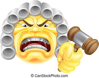 Angry Judge Emoji Emoticon