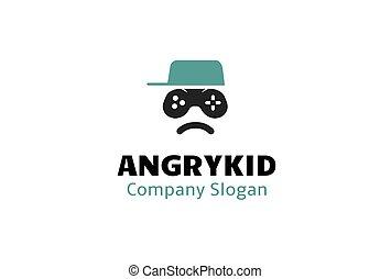 Angry Kid Design Logo