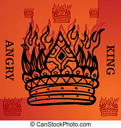 Angry King - An image representing an angry king.