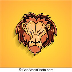 Angry Lion Face Mascot