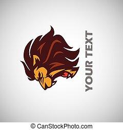 Angry Lion Head Logo