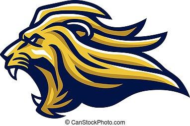 Angry Lion Head Mascot