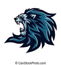 Angry Lion Roaring Head Mascot