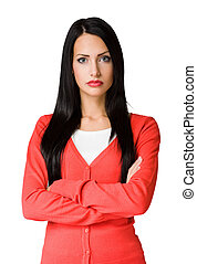 Angry looking business woman. - Angry hostile looking...