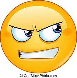 angry looking to side emoticon