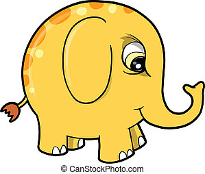 Angry Mad Elephant Animal Vector
