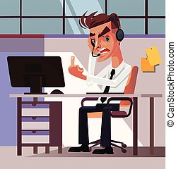 Angry mad frustration office worker businessman manager man...