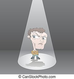 angry man in audition - Creative design of angry man in...