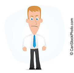 Angry manager - Illustration of a cartoon cute character for...