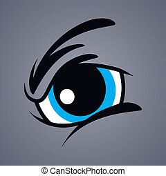 angry monster eye