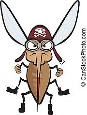 angry mosquito - carrier of infectious diseases, dangerous ...