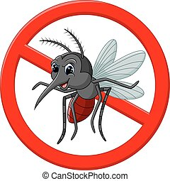 Angry mosquito cartoon - illustration of angry mosquito...