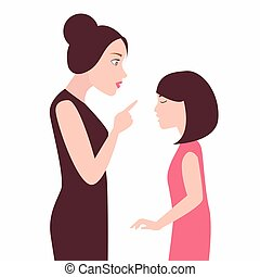 Illustration of a Mother and Daughter Arguing clipart ...