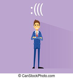 angry negative emotion business man flat design vector...