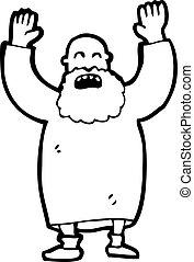 angry old man cartoon