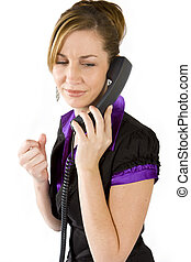 Angry on the phone - Women getting angry with the caller on ...