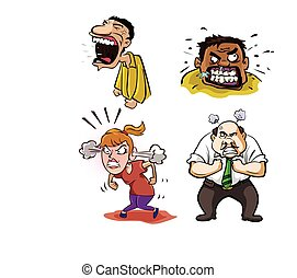 angry people illustration design