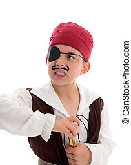 Angry pirate holding a scope