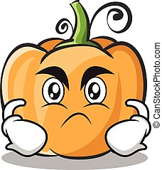 Angry pumpkin character cartoon style