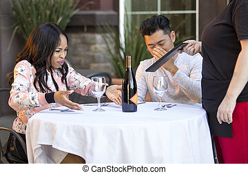 Angry Restaurant Customer Complaining to Waitress