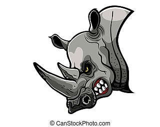 Angry Rhino Head