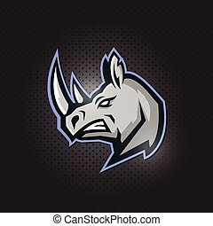 angry rhino mascot logo design. illustration for sport and esport team