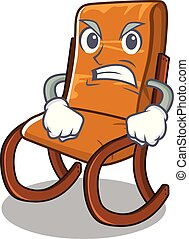 Angry rocking chair in the cartoon shape