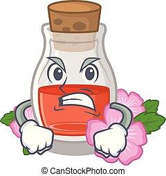 Angry rose seed oil the cartoon shape