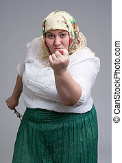 Angry Russian woman