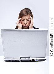 Angry sad bored businesswoman