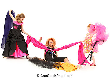 Pageant Girls Fighting Over Fabric and Dress Designer