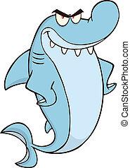 Angry Shark Character