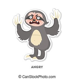 Angry sloth sticker