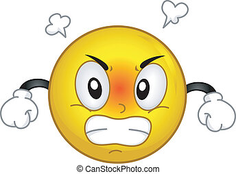 Angry Smiley - Illustration of a Smiley Fuming in Anger