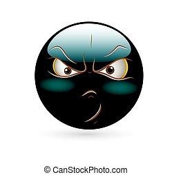 Angry Smiley Vector