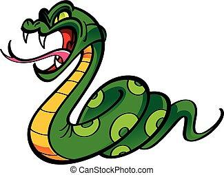 Angry snake