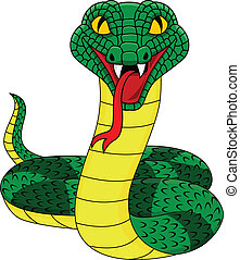 Angry snake - Vector illustration of angry snake
