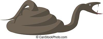 Angry snake, illustration, vector on white background.