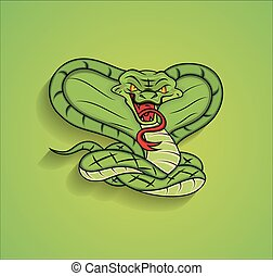 Angry Snake Mascot Graphic