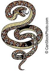 angry snake tattoo