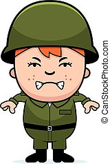 Angry Soldier Boy